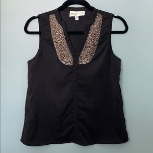 Francesca's Black blouse with beading